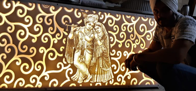 LOVE STORY OF GOD ENGRAVED ON CORIAN