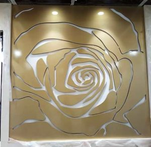 Bed back rose wall murals