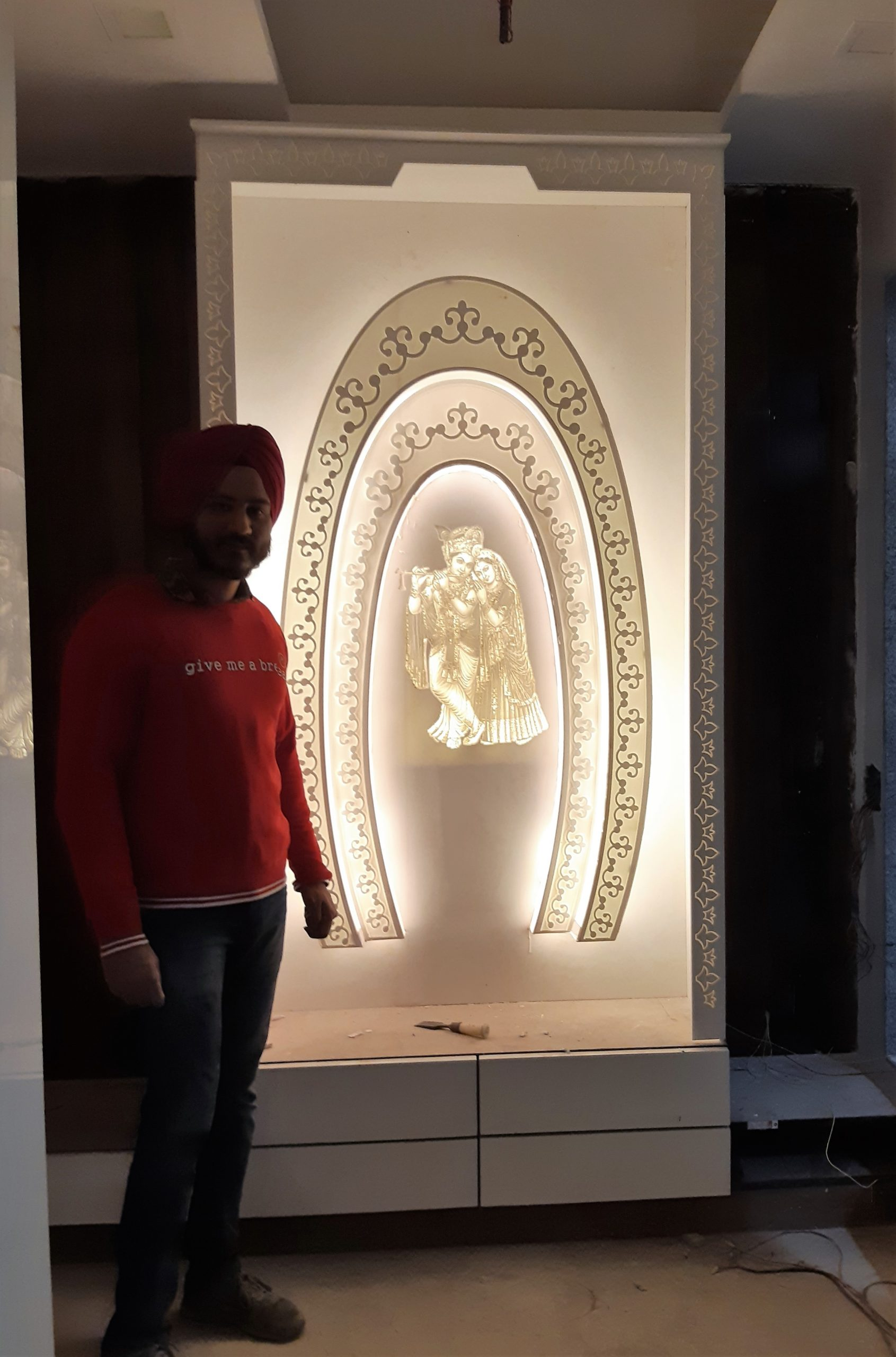 CORIAN MANDIR GIVE POSITIVE ENERGY IN HOME