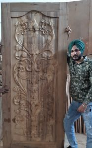 Buy online teak wood door